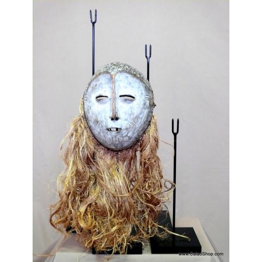 Socle 42 cm pour masque en bois