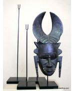 Socle 52 cm pour masque en bois