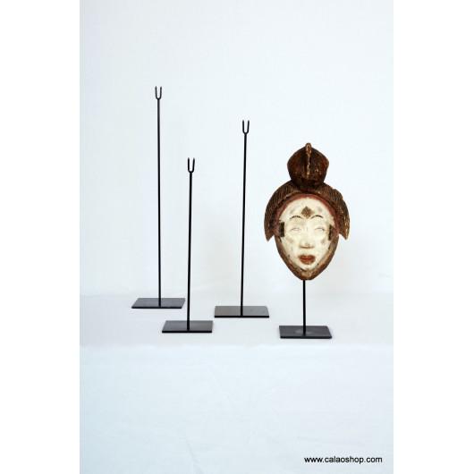 Socle tout métal pour masque, 42 cm