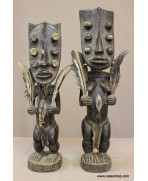 Couple de statues Grebo