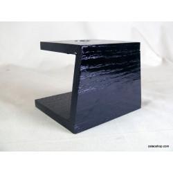Socle noir pour statue
