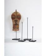 Socle pour masque en bois, quatre hauteurs au choix
