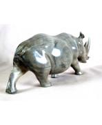 Rhinocéros en ébène gris