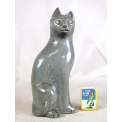 Chat en ébène gris