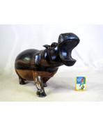 Hippopotame en ébène royal