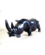 Rhinocéros en bois d'ébène