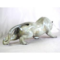 Panthère en ébène gris