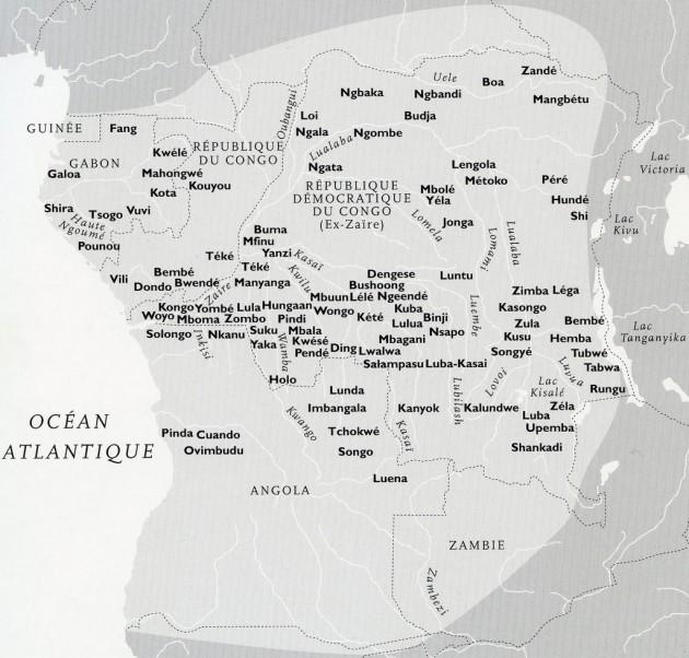 Carte Gabon Congo